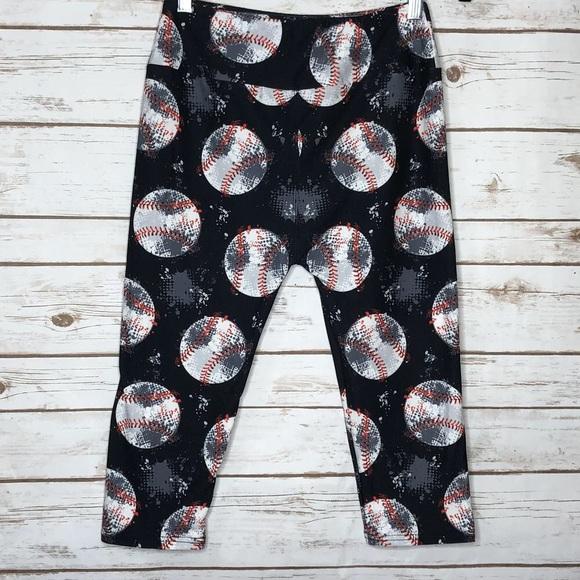 c63456da54256 Pants   Legging Capris Baseball Print Plus Size   Poshmark